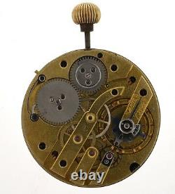 Swiss Lever High Grade Pocket Watch Movement Spares Or Repairs Z273