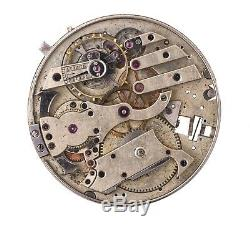 Swiss Lever Minute Repeater Pocket Watch Movement Spares Or Repairs H146