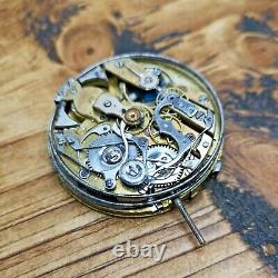 Swiss Repeater Pocket Watch Movement Ticking For Restoration, Parts (AP45)