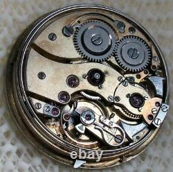 Swiss Unknown Minute Repeater High Grade Open Face Movement. 41.2 Mm