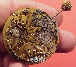 TWO CAL No 12172 DEPOSE 1/4 Repeater Movements CHRONOGRAPH 44MM Pocket Watch