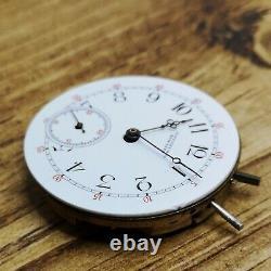 Tiffany & Co Longines Pocket Watch Movement for Repair, Good Balance (E100)
