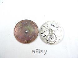 Tiffany & Co. Merimont Pocket Watch Swiss Movement 18 Jewels 8 Adjustments Parts