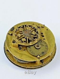 Tiny Verge Fusee Pocket Watch Movement 18.65mm Runs, Circa 1800 (BM4)