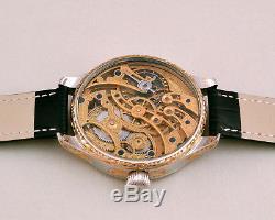 ULYSSE NARDIN Maxi Skeleton HAND-ENGRAVED ART movement Pocket Watch 1905s