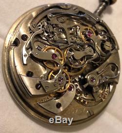 Ulysse Nardin Chronograph Rattrapante Pocket Watch movement & enamel dial
