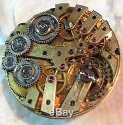 Ulysse Nardin Double Train Dead Seconds Pocket Watch Movement & Enamel Dial