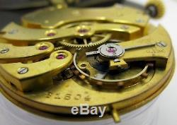 Ulysse Nardin Locle 16s pocket watch movement & porcelain dial for part