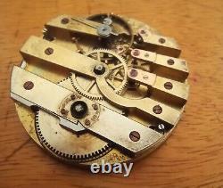 Unsigned swiss pivoted detent chronometer pocket watch movement