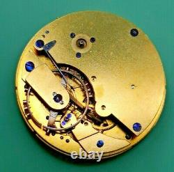 Unusual Detent Chronometer Pocket Watch Movement by Tupman for Repair (K39)