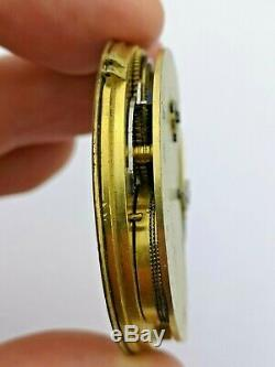 Unusual Up/Down Reverse Fusee Freesprung Pocket Watch Movement (R80)