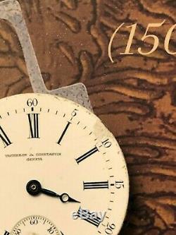 VACHERON & CONSTANTIN GENEVA Pocket watch movement For parts or repair