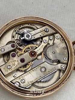 VACHERON & CONSTANTIN GENEVE-SUISSE Movement 14K Yellow Gold Filled Pocket Watch