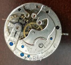 VINTAGE 18s LONGINES PRIVATE LABEL HUNTING CASE POCKET WATCH MOVEMENT 45.7mm