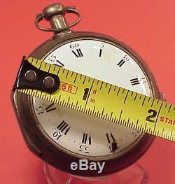 VINTAGE 55MM Silver Verge Fusee Repeater Case Bell Dial 43mm MVT Pocket Watch