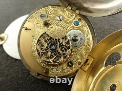 VINTAGE 61mm PAIR CASE FUSEE FOR PARTS POCKET WATCH