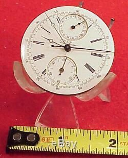 VINTAGE La SIRENE 42MM CHRONOGRAPH REGISTER SWISS POCKET WATCH MOVEMENT REPAIRS