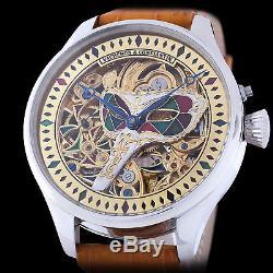 Vacheron & Constantin Geneve Men's Skeleton Engraved Swiss Pocket Watch Movement