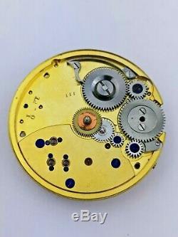 Very High Quality Freesprung English Pocket Watch Movement London Made (P59)