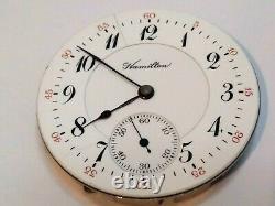 Very Rare! 16sz Hamilton 963 only 380 made! 17 jewel RR pocket watch. Runs