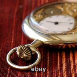 Very Rare 1905' Valor Watch Co Exposed Filigree Movement Open Face Pocket Watch