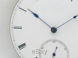 Very Rare & Early 17 Jwl 3/4 Plate New York Watch Co. Hg Norton Movement & Dial