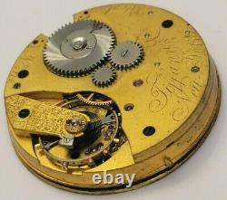 Very Rare Tiffany & Co pocket watch movement with dial 42mm AS IS
