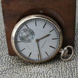 Vintage 12 Size 1217 Grade Waltham O. F. Pocket Watch Movement Running Good