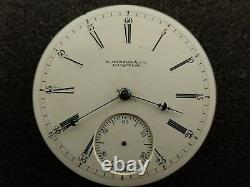 Vintage 18 Size E. Howard & Co. Pocket Watch Movement Not Running
