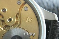 Vintage 1924`s IWC Pocket Swiss movement in New wrist Military Case PILOT A-DIAL