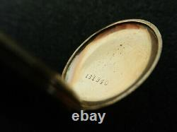 Vintage 26.75mm Swiss O. F. Pocket Watch With Solid Gold Case Not Running