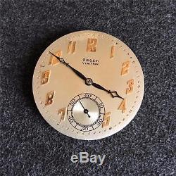Vintage 38mm Gruen Veri-thin Openface Pocketwatch Movement