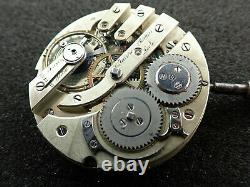 Vintage 43.3mm C. Faiure Perrin Locle H. C. Pocket Watch Movement Keeping Time
