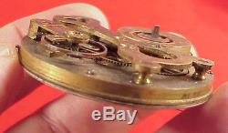 Vintage 48mm Unusual Form Crab Claw Chinese Duplex Pocket Watch Movement