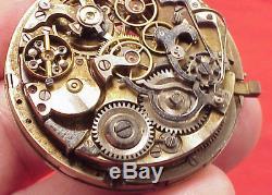 Vintage CALIBER No 13244 Slide 1/4 HOUR Repeater Movement 44MM Pocket Watch
