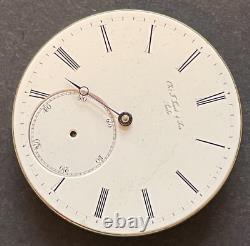 Vintage Chs F. Tissot & Sons Pocket Watch Movement KW Parts High Grade Swiss