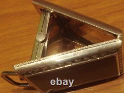 Vintage Eszeha Purse Pocket Watch Silver Slide Movement