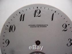 Vintage GIRARD PERREGAUX CHAUX DE FONDS movement ORIGINAL PORCELAIN DIAL