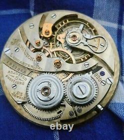 Vintage Hamilton 23 Jewels Grade 920 Pocket Watch Movement Running