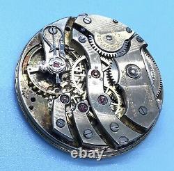 Vintage High Grade Pocket Watch C. H. Meylan Brassus Movement 21j Adjusted Swiss
