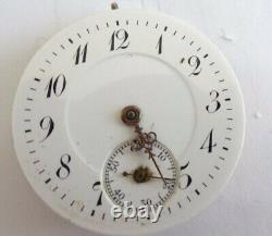 Vintage High grade pocket Watch Movement need service 28mm (Z582)