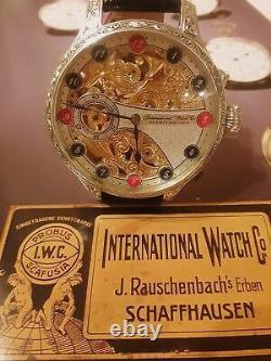 Vintage IWC International Watch Co. Pocket watch movement -SILVER CASE