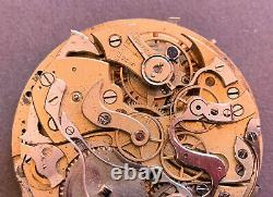 Vintage Landeron Repeater Pocket watch Movement for parts or repair
