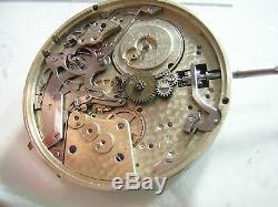 Vintage Le Coultre Quartier Repeater Pocket Watch Movement Dial Hands