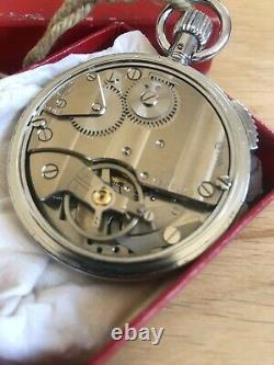 Vintage OMEGA Stopwatch Pocket Watch In Original Box Lemania Swiss Movement 1960