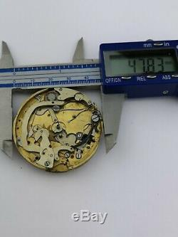 Vintage Repeater (Possibly Lemania) Pocket Watch Movement for Parts (F67)