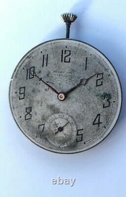 Vintage Rolex MARCONI Standard Pocket watch Movement 7 Jewels Swiss Made RARE