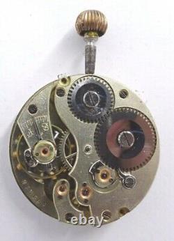 Vintage Small IWC Taschenuhr werk pocket watch movement 29mm working (Z677)