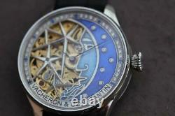 Vintage Vacheron $ Constantin MEN'S The Moon SKELETON POCKET WATCH MOVEMENT