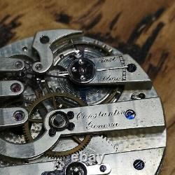 Vintage Working Constantin Geneva Swiss Pocket Watch Movement (E108)